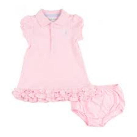 ea44b6ed57f82 Ralph Lauren Baby Girls Polo Pink Cupcake Set